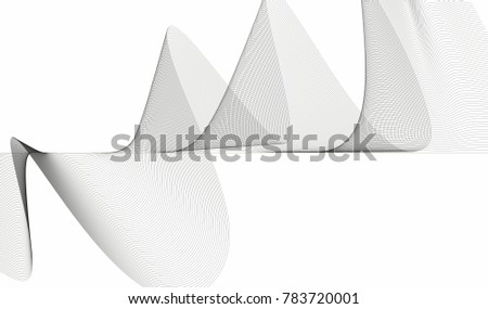 monochrome futuristic waves and lines. abstract art high tech background banner design concept for web and print