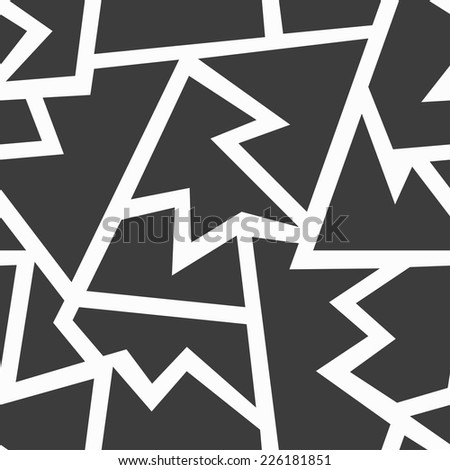monochrome geometric seamless pattern (raster version) - stock photo