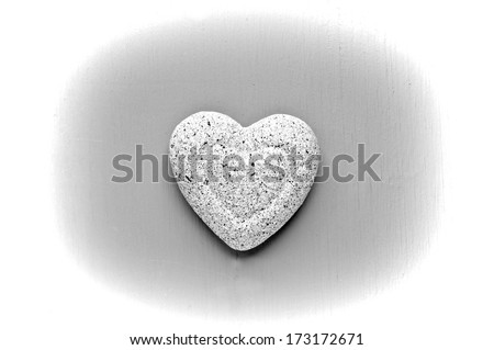 monochrome heart of stone isolated