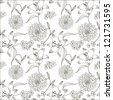Monochrome seamless pattern - stock photo