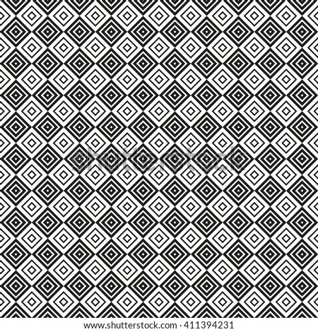 Monochrome seamless pattern. Endless texture can be used for wallpaper, pattern fills, web page background, surface textures. Geometric ornament.