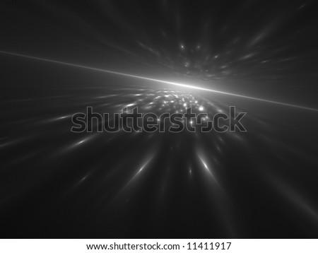 Monochrome Virtual Sunrise - stock photo