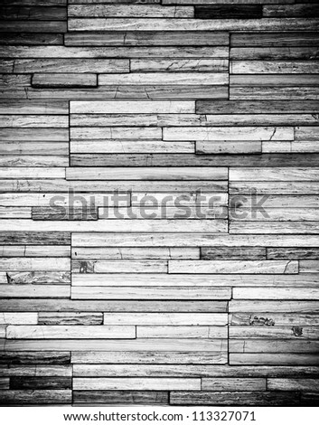 Monochrome wooden wall background - stock photo
