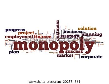 Monopoly word cloud - stock photo