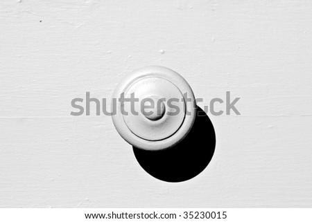 Monotone Door Knob - stock photo