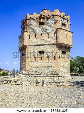 Monreal Tower is a defensive structure built in the thirteenth century on a watchtower southwest of Tudela, Spain