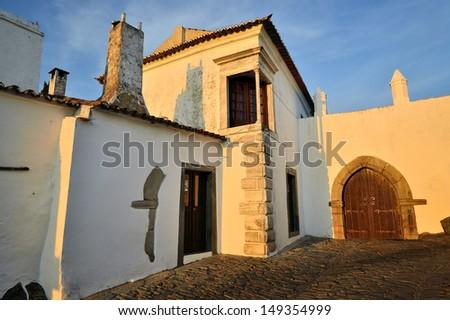 Monsaraz - medieval village in Portugal, Europe - stock photo