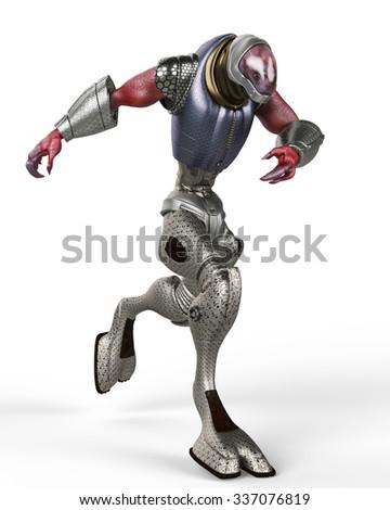 monster alien - stock photo