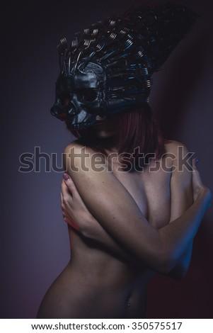 Naked woman and skulls — 15
