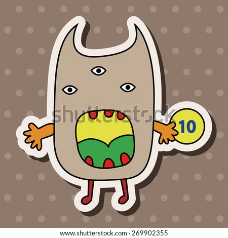 monster cartoon, cartoon stickers icon