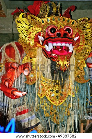 Monster effigy made for the Ngrupuk parade, Bali, Indonesia.