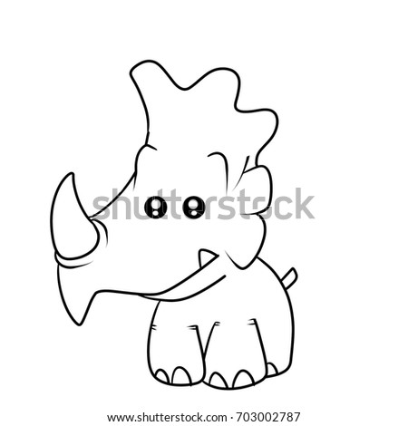 Monster Rhino Kid Coloring Book Stock Illustration 703002787 ...