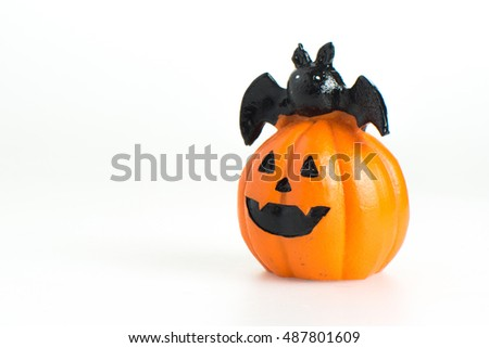 Monstrous halloween pumpkin cartoon, pumpkin isolated on white background