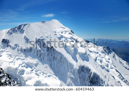 Mont Blanc, Chamonix, French Alps. France. - stock photo