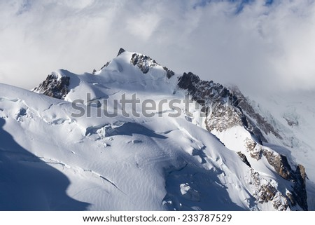 Mont Blanc in winter - stock photo
