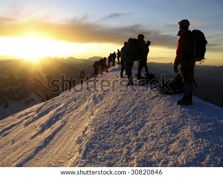 Mont Blanc top - stock photo