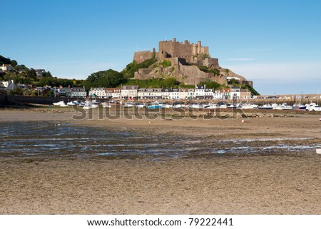 Mont Orgueil Castle in Gorey, Jersey, UK