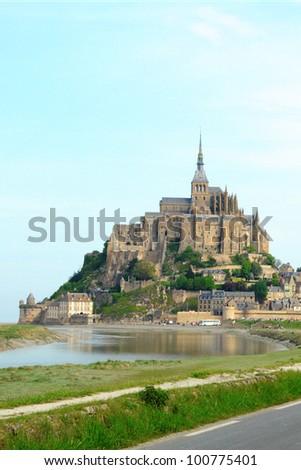 Mont Saint Michel Abbey, France - stock photo