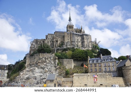 Mont Saint Michel Abbey, France - stock photo