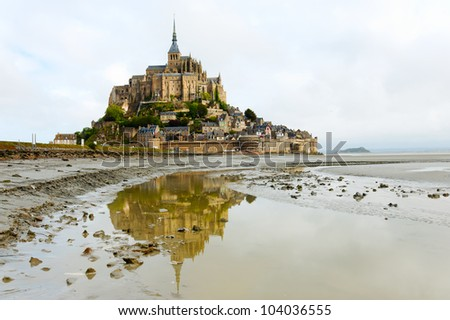 Mont Saint Michel. France. Panorama - stock photo