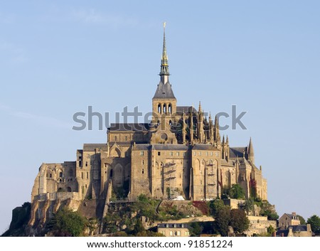 Mont Saint Michel, Normandy, France - stock photo