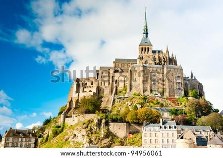 Mont Saint Michel, Normandy, France - stock photo