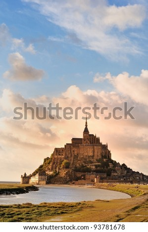 Mont St Michel in Normandy, France - stock photo