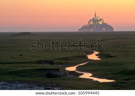Mont st Michel - Normandy - France - stock photo