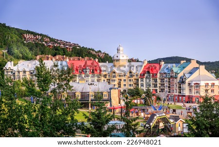 Mont-tremblant in summer. - stock photo