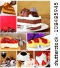 Montage of Delicious Cakes - stock photo