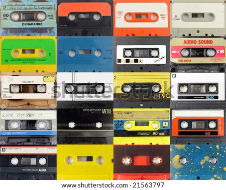 montage of many cassettes