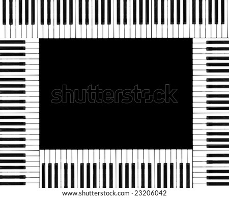 Montage of piano keyboards. - stock photo