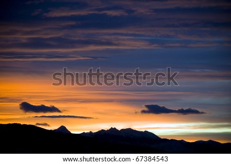 Montana Sunset - stock photo