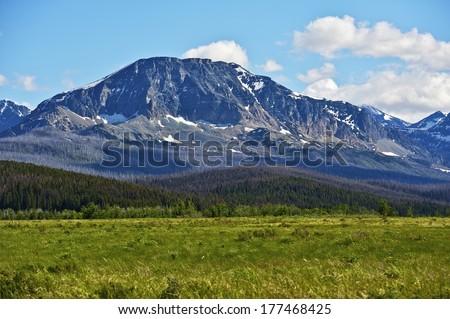 Montana United States. Summer Montana Landscape in Glacier National Park. - stock photo