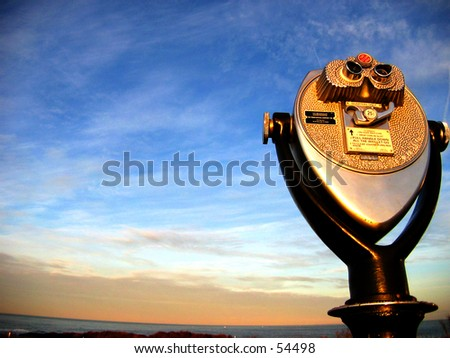 Montauk Point Look out binocular (Photo 1 of 2) - stock photo