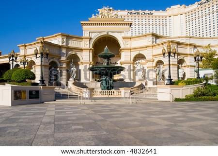 Monte Carlo Casino in Las Vegas - stock photo