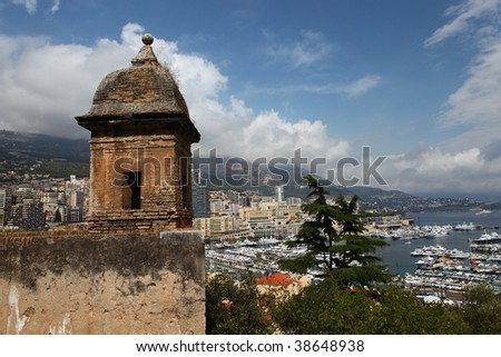 Monte Carlo from Above - stock photo