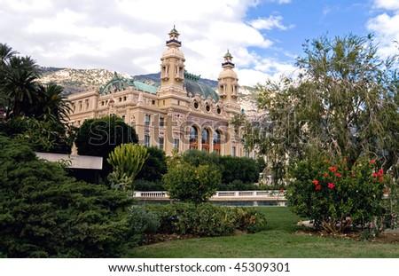 Monte Carlo Grand Casino. Sea side - stock photo
