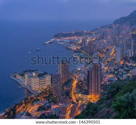 Monte Carlo in Monaco - stock photo
