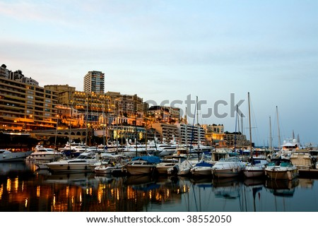 MONTE CARLO MARINA  - stock photo