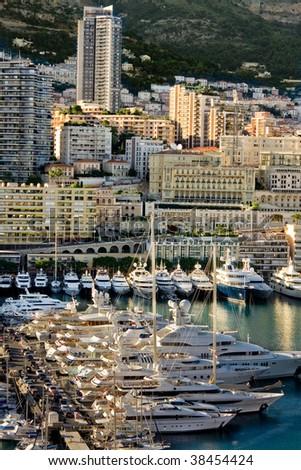 Monte Carlo Marina and apartment - stock photo
