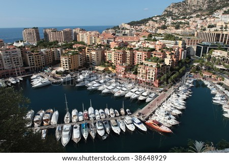 Monte Carlo Marina from Above - stock photo