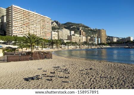 Monte Carlo: the Larvotto beaches - stock photo