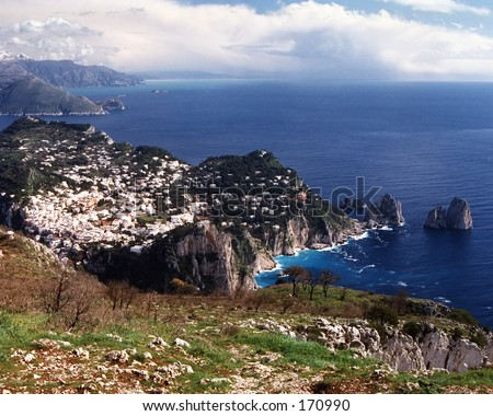 Monte Salerno - stock photo