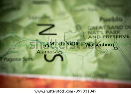 Monte Vista. Colorado. USA - stock photo