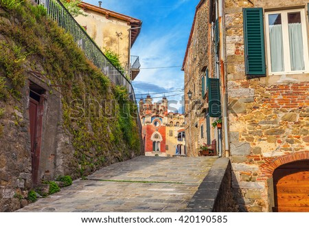 Montecatini Alto. Italy. - stock photo