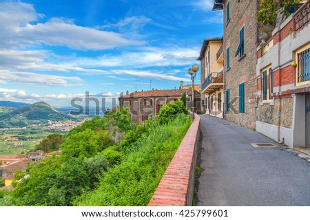 Montecatini Alto. Italy. Cityscape. - stock photo