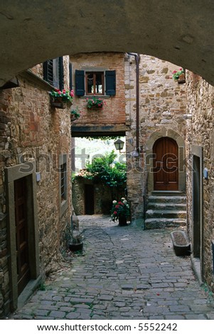 Montefioralle, little ancient town in Chianti (Tuscany, Italy)