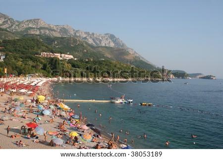 Montenegro beach 06 - stock photo