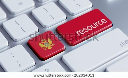 Montenegro  High Resolution Resource Concept - stock photo